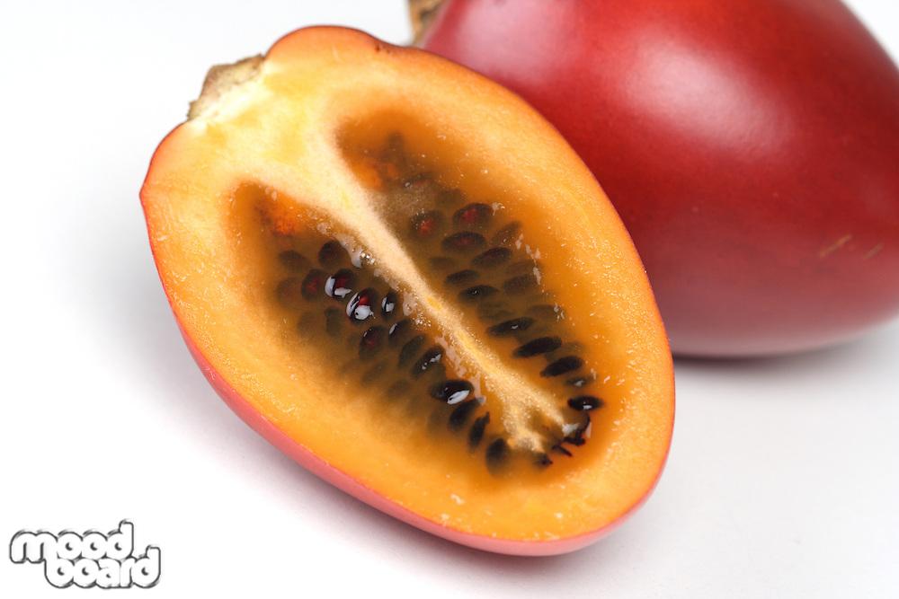 Tamarillo fruit on white background - studio shot