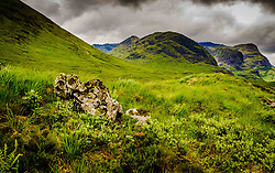 Even on a rainy fourth of July the Three Sisters in Glencoe look impressive.<br /> <br /> (c) Andrew Wilson   Edinburgh Elite media