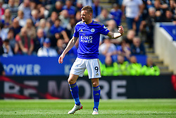 May 12, 2019 - Leicester, England, United Kingdom - Leicester City forward Jamie Vardy (9) during the Premier League match between Leicester City and Chelsea at the King Power Stadium, Leicester on Sunday 12th May 2019. (Credit Image: © Mi News/NurPhoto via ZUMA Press)
