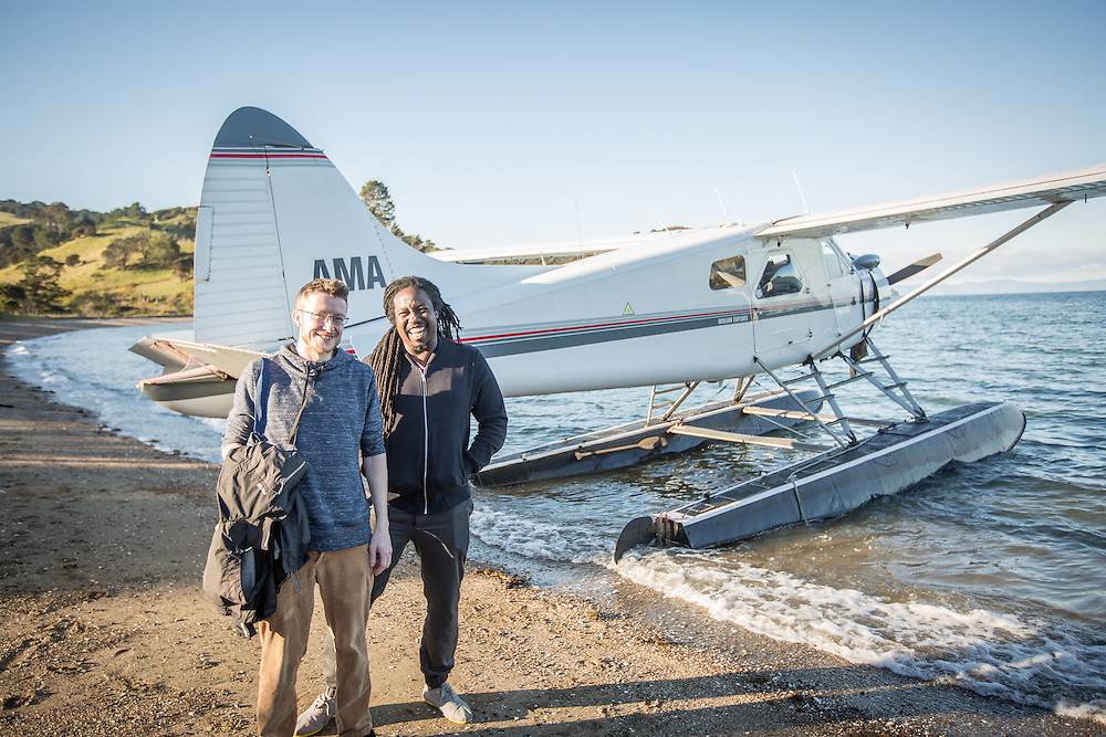 Chef Paul Carmichael  flies to Man O War Bay for some wine tasting. August 2016 Photo:Gareth Cooke/Subzero Images