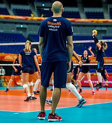 18-10-2018 JPN: World Championship Volleyball Women day 19, Yokohama<br /> Training day Netherlands in Yokohama Arena / Coach Jamie Morrison of Netherlands