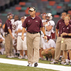 20 September 2008: Louisiana-Monroe Head Coach Charlie Weatherbie on the sidelines during a Conference USA match up between the University of Louisiana Monroe and Tulane at the Louisiana Superdome in New Orleans, LA.