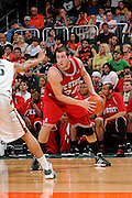 March 7, 2009: Ben McCauley of the North Carolina State Wolfpack in action during the NCAA basketball game between the Miami Hurricanes and the North Carolina State Wolfpack. The 'Canes defeated the Wolfpack 72-64.