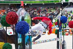 Mario Wilson Fernandes, (POR), Zurito Do Belmonte - Team & Individual Competition Jumping Speed - Alltech FEI World Equestrian Games™ 2014 - Normandy, France.<br /> © Hippo Foto Team - Leanjo De Koster<br /> 02-09-14