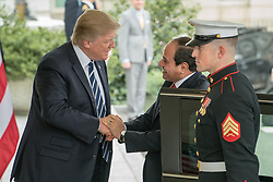 April 3, 2017 - Washington, District Of Columbia, District of Columbia, U.S - U.S. President Donald J. Trump welcomes President Abdel Fattah Al Sisi of Egypt, at the West Wing of the White House in Washington, D.C. (Credit Image: © Ken Cedeno via ZUMA Wire)
