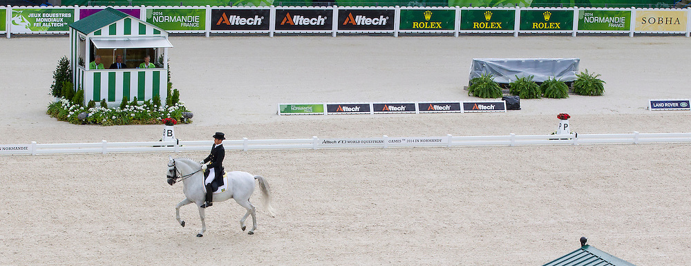 Joao Victor Oliva, (BRA), Signo Dos Pinhais - Grand Prix Team Competition Dressage - Alltech FEI World Equestrian Games&trade; 2014 - Normandy, France.<br /> &copy; Hippo Foto Team - Leanjo de Koster<br /> 25/06/14