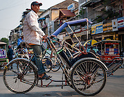 Cyclo taxi in Phnom Penh (Cambodia)