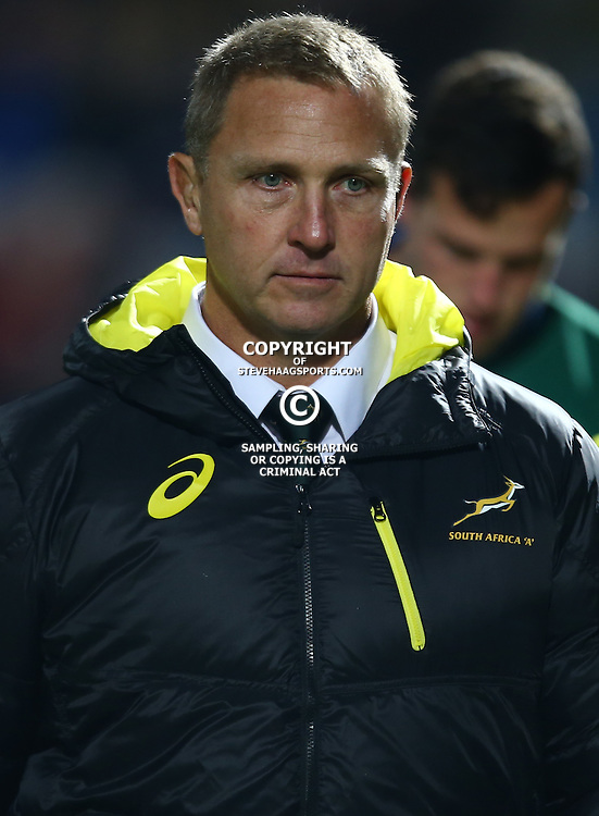 """George, SOUTH AFRICA, 17,June, 2016 - Johan Ackermann (Head Coach) of South Africa A during the South Africa """"A"""" v England Saxons - 2nd match,Outeniqua Park in George,Southern Cape  South Africa (Photo by Steve Haag) - Images for Getty Images  - England Saxons."""