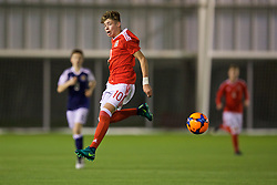 EDINBURGH, SCOTLAND - Tuesday, November 1, 2016: Wales' Neco Williams in action against Scotland during the Under-16 2016 Victory Shield match at ORIAM. (Pic by David Rawcliffe/Propaganda)
