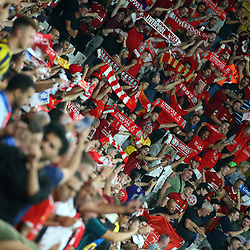 Fans during the UEFA SUPERCUP match between Liverpool and Chelsea at Vodafone Park in Istanbul , Turkey on August 14 , 2019. <br /> Photo : Seskimphoto / Icon Sport
