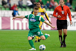 Rok Roj of Olimpija at 13th Round of Prva Liga football match between NK Olimpija and Maribor, on October 17, 2009, in ZAK Stadium, Ljubljana. Maribor won 1:0. (Photo by Vid Ponikvar / Sportida)