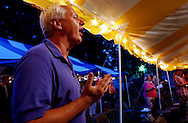 FREEHOLD NJ - Fred Fisch, North Brunswick, prays during the St. Peters Episcopal church tent revival celebrations at Freehold Borough (Photo by Miguel Juárez Lugo)