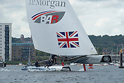 JP Morgan, BAR, practice day for the Cardiff Extreme Sailing Series Regatta. 21/8/2014