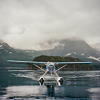 A de Havilland float plane in Geographic Harbor, Katmai National Park, Alaska.