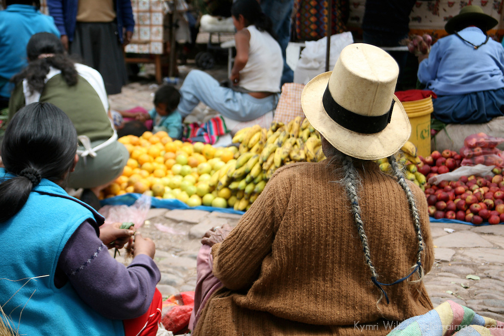 Americas, South America, Peru, Pisac. On the streets of Pisac Market.