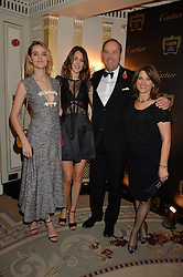 Left to right, FRANCESCA HERBERT, CHLOE HERBERT, the HON.HARRY HERBERT and CHICA ERBERT at the 26th Cartier Racing Awards held at The Dorchester, Park Lane, London on 8th November 2016.