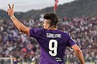 Giovanni Simeone esultanza terzo gol. Goal celebration <br /> Firenze 29-04-2018 Stadio Artemio Franchi Football Calcio Serie A 2017/2018 Fiorentina - Napoli . Foto Andrea Staccioli / Insidefoto