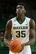 WACO, TX - DECEMBER 9: Johnathan Motley #35 of the Baylor Bears shoots a free throw against the Texas A&M Aggies on December 9, 2014 at the Ferrell Center in Waco, Texas.  (Photo by Cooper Neill/Getty Images) *** Local Caption *** Johnathan Motley