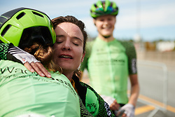 Marianne Vos (NED) thanks her teammates after winning all three stages at Ladies Tour of Norway 2018 Stage 3. A 154 km road race from Svinesund to Halden, Norway on August 19, 2018. Photo by Sean Robinson/velofocus.com