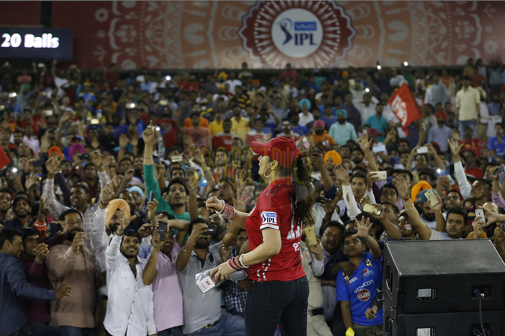 during match 21 of the Vivo Indian Premier League ( IPL ) 2016 between the Kings XI Punjab and the Mumbai Indians held at the IS Bindra Stadium, Mohali, India on the 25th April 2016<br /> <br /> Photo by Arjun Singh / IPL/ SPORTZPICS