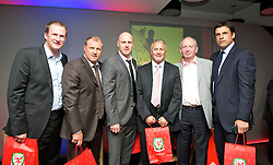 CARDIFF, WALES - Friday, May 18, 2012: Simon Grayson, Paul Jewell, Robert Page, Micky Adams and Wales' manager Chris Coleman during an FAW Coaching course at the Glamorgan Sports Park. (Pic by David Rawcliffe/Propaganda)