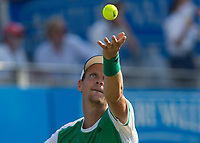 Tennis - 2017 Aegon Championships [Queen's Club Championship] - Day Three, Wednesday<br /> <br /> Men's Singles: Round of 16 _ Tomas Berdych (CZE) Vs Denis Shapovalov (CAN)<br /> <br /> Tomas Berdych (CZE) seves on the centre court at Queens Club<br /> <br /> COLORSPORT/DANIEL BEARHAM