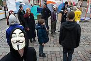 Occupy-Camper auf dem Gerhardt-Hauptmann-Platz