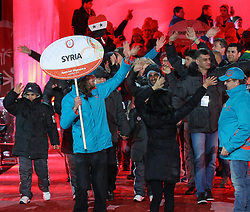 18.03.2017, Planai-Stadion, Schladming, AUT, Special Olympics 2017, Wintergames, Eröffnungsfeier, im Bild der Einmarsch der Delegation aus Syrien // the delegation of Syria during the opening ceremony in the Planai Stadium at the Special Olympics World Winter Games Austria 2017 in Schladming, Austria on 2017/03/17. EXPA Pictures © 2017, PhotoCredit: EXPA / Martin Huber