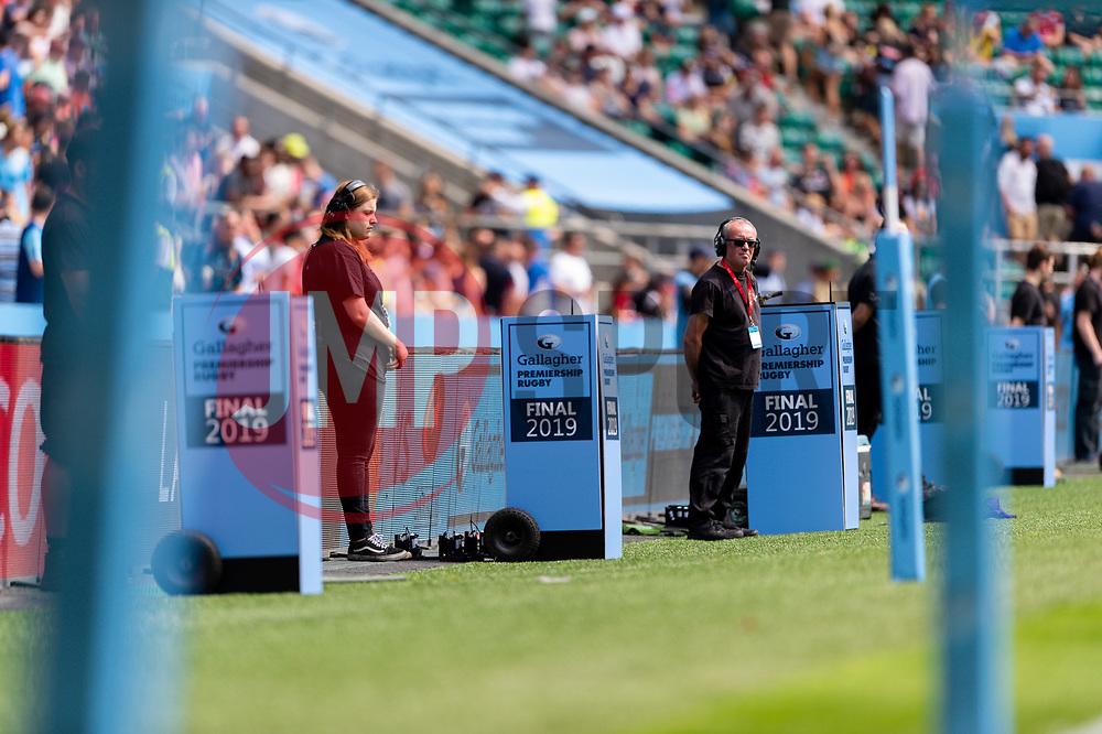 Gallagher Premiership Rugby Branding - Mandatory by-line: Ryan Hiscott/JMP - 01/06/2019 - RUGBY - Twickenham Stadium - London, England - Exeter Chiefs v Saracens - Gallagher Premiership Rugby Final