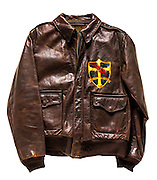 A-2 flying jacket that belonged to B-17 pilot Ernest Anders Erickson of the 95th Bomb Group.