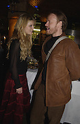 Emilia Fox and Jared Harris, Sweet Panic opening night party, Crypt. St. Matin's Lane. 12 November 2003. © Copyright Photograph by Dafydd Jones 66 Stockwell Park Rd. London SW9 0DA Tel 020 7733 0108 www.dafjones.com