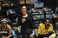 "Ole Miss vs. Georgia Tech Yellow Jackets head coach MaChelle Joseph in the WNIT at the C.M. ""Tad"" Smith Coliseum in Oxford, Miss. on Sunday, March 22, 2015. Ole Miss won 63-48.(AP Photo/Oxford Eagle, Bruce Newman)"
