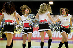 Cheerleaders during the Men's Handball European Championship Main Round match between Slovenia and Czech republic at the Olympia Hall on January 24, 2009 in Innsbruck, Austria.  (Photo by Vid Ponikvar / Sportida) - on January 2010