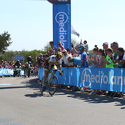 08-05-2016: Wielrennen: Giro: Arnhem<br />ARNHEM (NED) wielrennen<br />De tweede etappe van de voerde het peloton door de over Betuwe en de Liemers. Op de Posbank pakte Maartne Tjallingi de punten voor de bergtrui