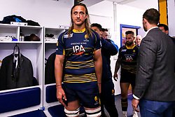 Anton Bresler of Worcester Warriors celebrates after beating Gloucester Rugby and securing Premiership Rugby status - Mandatory by-line: Robbie Stephenson/JMP - 28/04/2019 - RUGBY - Sixways Stadium - Worcester, England - Worcester Warriors v Gloucester Rugby - Gallagher Premiership Rugby