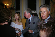 Basia Briggs, Michael Cole and John Wickham, Richard and Basia Briggs host a party to celebrate Leopold the Horse's 21st Birthday. 35 Sloane Gdns. London SW1. -DO NOT ARCHIVE-© Copyright Photograph by Dafydd Jones. 248 Clapham Rd. London SW9 0PZ. Tel 0207 820 0771. www.dafjones.com.