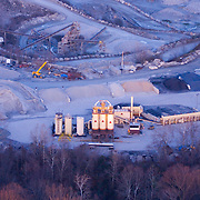 Aerial views of Cecil County, Maryland at sunset.