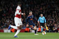 Jose Luis Gaya of Valencia on the ball - Mandatory by-line: Arron Gent/JMP - 02/05/2019 - FOOTBALL - Emirates Stadium - London, England - Arsenal v Valencia - UEFA Europa League Semi-Final 1st Leg