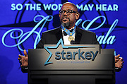 "Gala honoree Forest Whitaker speaks at the Starkey Hearing Foundation's ""So the World May Hear"" Awards Gala on Sunday, July 20, 2014 in St. Paul, Minn. The foundation gives away more than 100,000 hearing aids in the U.S. and around the world annually. (Photo by Diane Bondareff/Invision for Starkey Hearing Foundation/AP Images)"