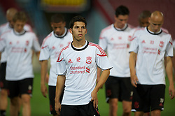 TRABZON, TURKEY - Wednesday, August 25, 2010: Liverpool's Daniel Pacheco during training at the Huseyin Avni Aker Stadium ahead of the UEFA Europa League Play-Off 2nd Leg match against Trabzonspor A.S. (Pic by: David Rawcliffe/Propaganda)