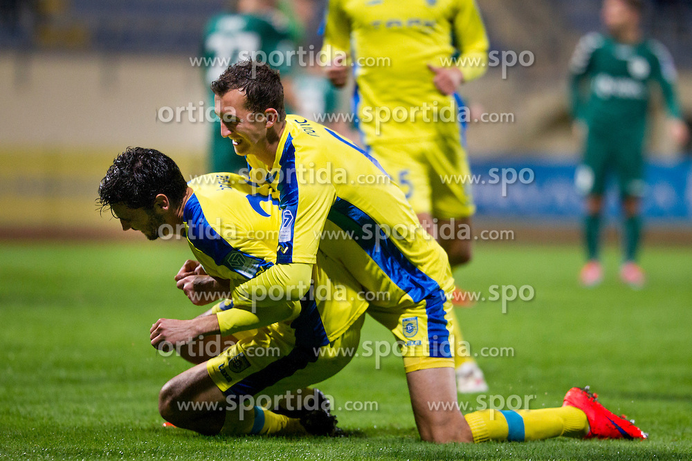 Lucas Mario Horvat #23 of NK Domzale celebrates during football match between NK Domzale and NK Krka in 14th Round of Prva liga Telekom Slovenije 2015/16, on October 17, 2015 in Sports park Domzale, Slovenia. Photo by Urban Urbanc / Sportida