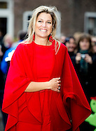 HAARLEM  - Queen maxima arrives at a school in Haarlem to visit the program Children for music. COPYRIGHT ROBIN UTRECHT