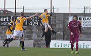 East Fife&rsquo;s Jamie Insall celebrates after scoring his side's second goal - East Fife v Arbroath, SPFL League Two at New Bayview<br /> <br />  - &copy; David Young - www.davidyoungphoto.co.uk - email: davidyoungphoto@gmail.com