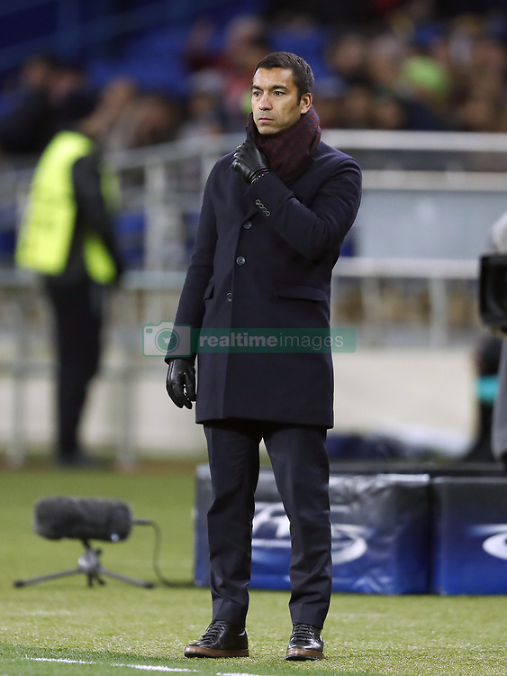 coach Giovanni van Bronckhorst during the UEFA Champions League group F match between Shakhtar Donetsk and Feyenoord Rotterdam at Metalist Stadium on November 01, 2017 in Kharkiv, Ukraine