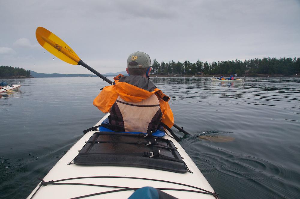 Taylor Paddles On, San Juan Islands, Washington, US
