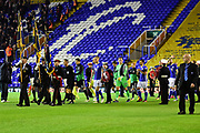 The Teams enter the pitch during the EFL Sky Bet Championship match between Birmingham City and Brentford at St Andrews, Birmingham, England on 1 November 2017. Photo by Dennis Goodwin.