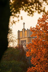 Oct. 27, 2004; Saint Mary's College LeMans Hall tower in fall.<br /> <br /> Photo by Matt Cashore