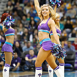 February 12, 2011; New Orleans, LA, USA; New Orleans Hornets Honeybees dancers perform during a breaking in a game against the Chicago Bulls at the New Orleans Arena. The Bulls defeated the Hornets 97-88.  Mandatory Credit: Derick E. Hingle