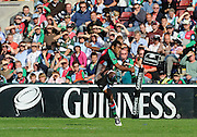 Twickenham, GREAT BRITAIN, Quins, Waisea LUVENIYALI, kicking, during the second half of the Guinness Premiership match,  Harlequins vs Bristol Rugby, at The Stoop Stadium, Surrey on Sat 13.09.2008. [Photo, Peter Spurrier/Intersport-images]