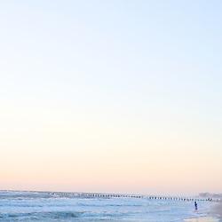 Naples Beach FL at sunset
